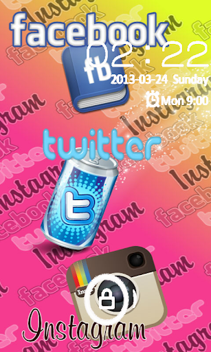 Social Selfie GO LOCKER THEME