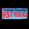 KKAJ 95.7 logo
