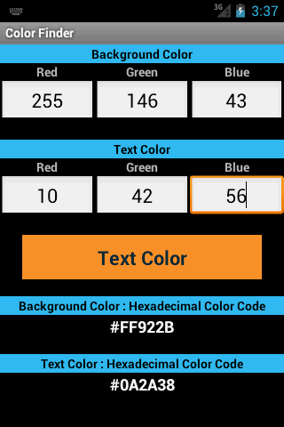 Color Finder - screenshot