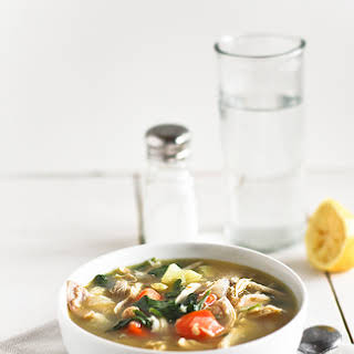Hearty Chicken and Vegetable Soup.