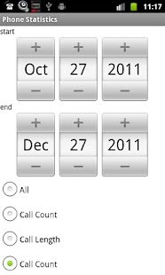 Phone Call Statistics - screenshot thumbnail