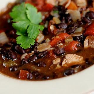 Black Bean, Chicken and Red Pepper Stew.