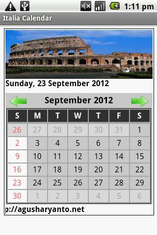 Italy Calendar 2012-2013
