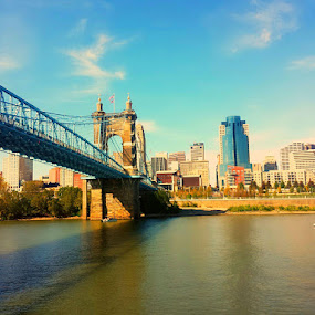 Cincinnati by Mili Shrivastava - Instagram & Mobile Android ( waterscape, bridge, river,  )