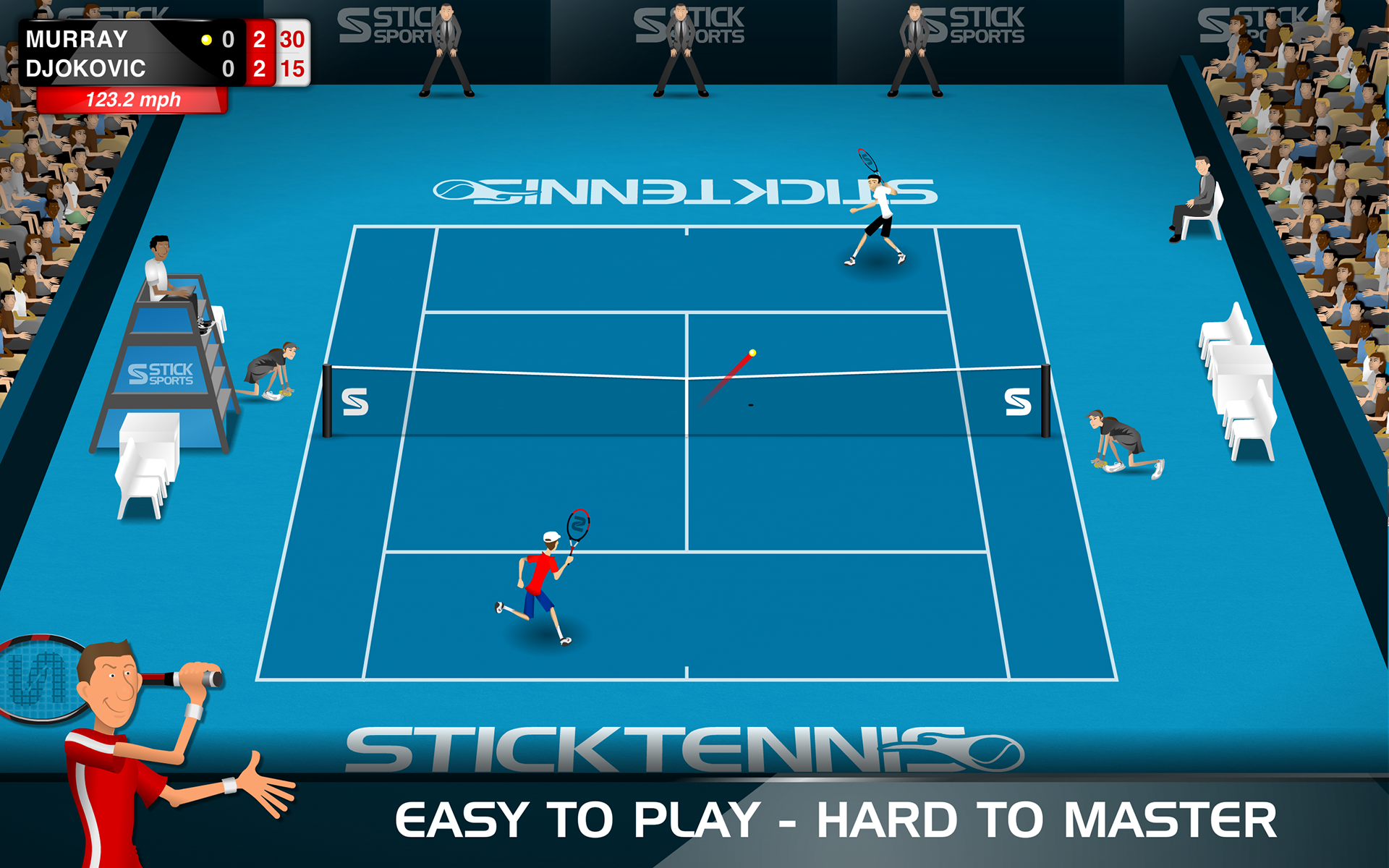 Stick Tennis screenshot #11