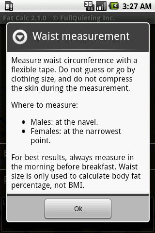 Body Fat Calculator screenshot