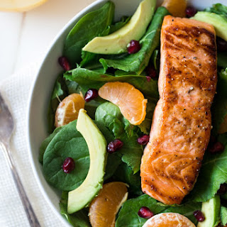 Superfood Salmon Salad With Coconut Orange Vinaigrette