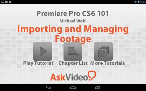 Premiere Pro CS6 101