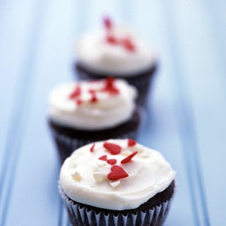 Frosted Chocolate-Buttermilk Cupcakes.