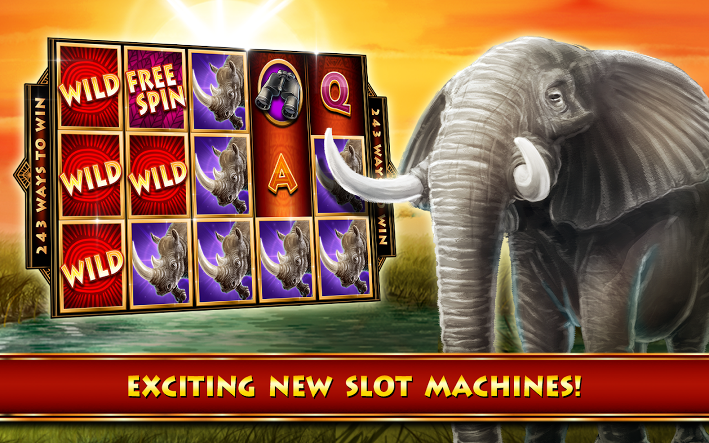 Play the most realistic slots! More than 25 FREE slots with large smoothly animated reels and lifeli