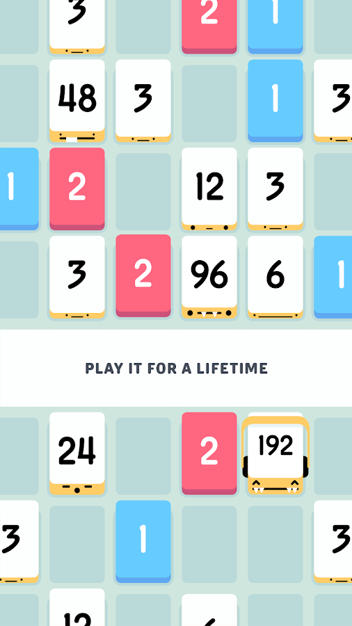Threes!- screenshot