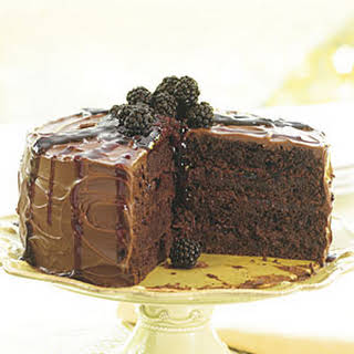 New-Fashioned Blackberry Chocolate Spice Cake.