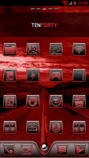 Serenity Launcher Theme Red - screenshot thumbnail