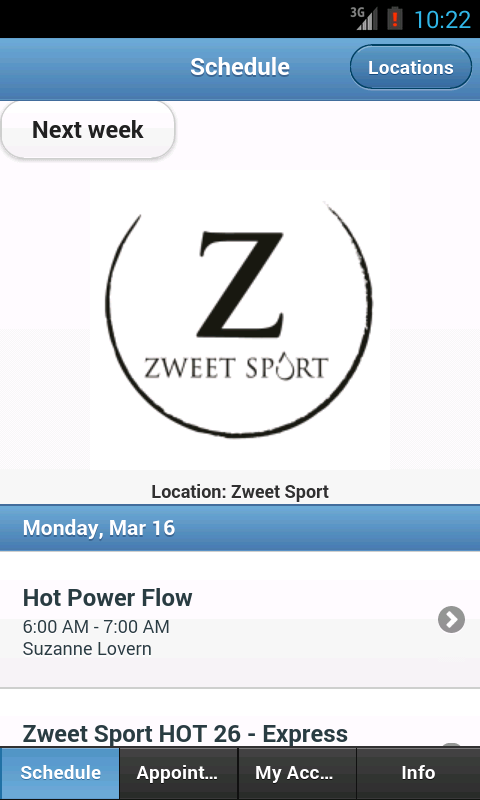 Zweet Sport Hot Yoga- screenshot