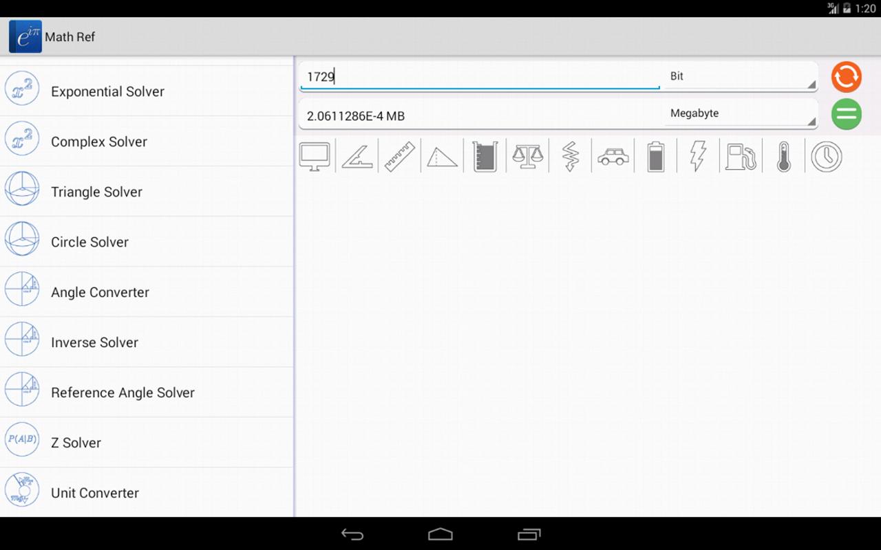 Math Ref screenshot #2