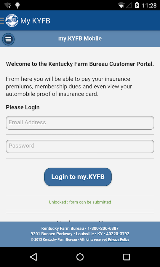 Kentucky Farm Bureau- screenshot
