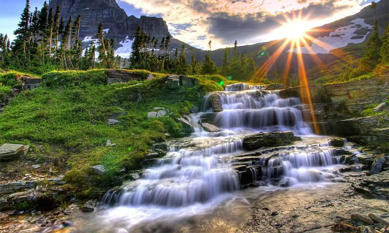 ... free living forest waterfall desktop utilities screensavers free