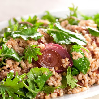Farro Salad with Oven-Roasted Grapes and Autumn Greens