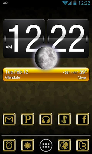 GOLD LUXURY ADW Apex NovaTheme