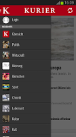 Screenshot of KURIER.at
