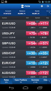 FXCM Trading Station Mobile - screenshot thumbnail