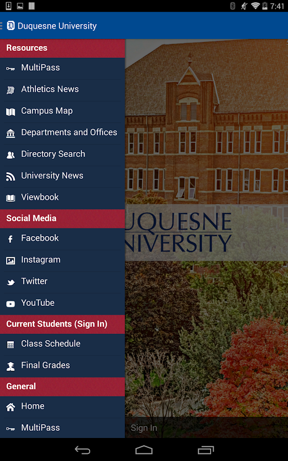 Duquesne U - screenshot