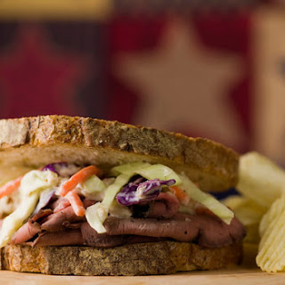 Roast Beef and Horseradish Coleslaw Sandwiches