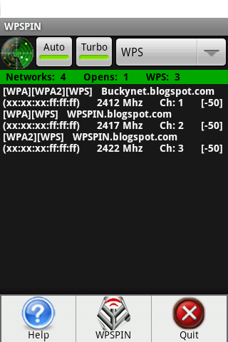 WPSPIN. WPS Wireless Scanner.- screenshot