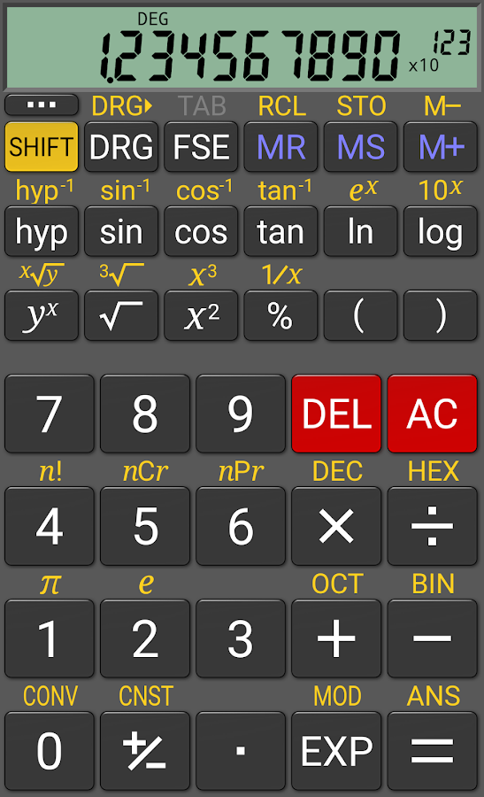 RealCalc Scientific Calculator- screenshot