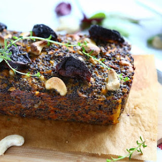 Black Quinoa Loaf with Lentils, Sundried Tomatoes and Cashews