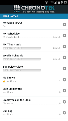 Chronotek Mobile App