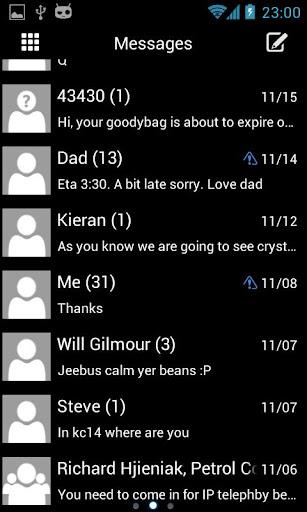 GO SMS WP8 Olive Theme