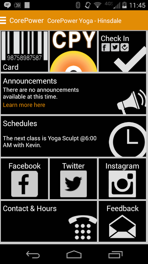 CorePower Yoga - screenshot