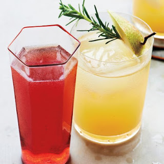 Moonshine and Pear-Nectar Cocktail