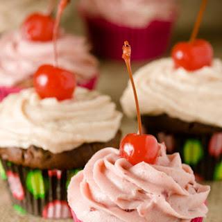 Chocolate Cherry Cupcake.