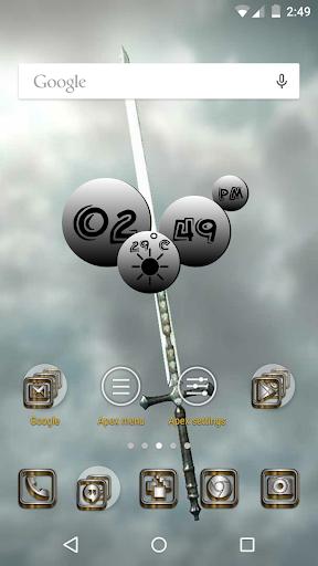 SilverGold 3D Icon CM Launcher