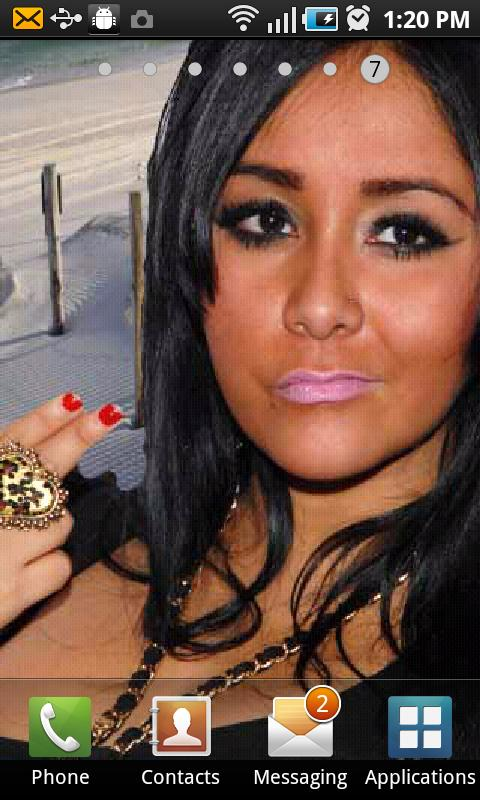Snooki Live Wallpaper - screenshot