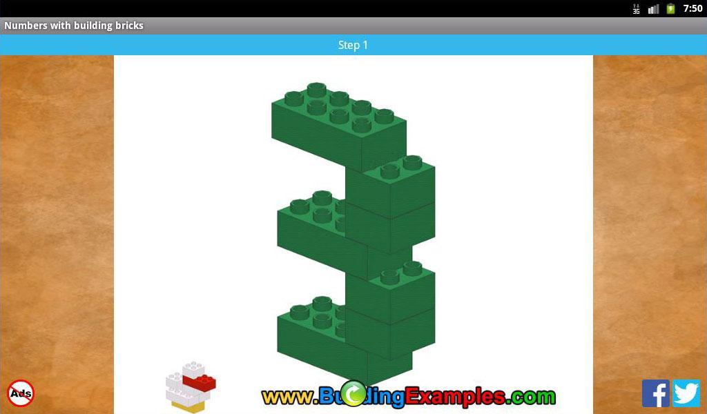 Numbers with building bricks- screenshot