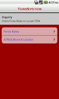 Screenshot of TeraSystem Mobile Banking