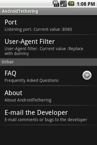 Tethering- screenshot
