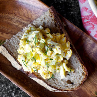 Egg Salad with Pickled Celery and Coarse Dijon.