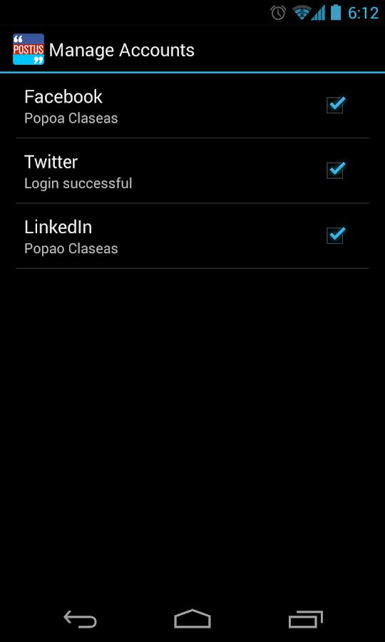 Postus Twitter,Facebook & More- screenshot