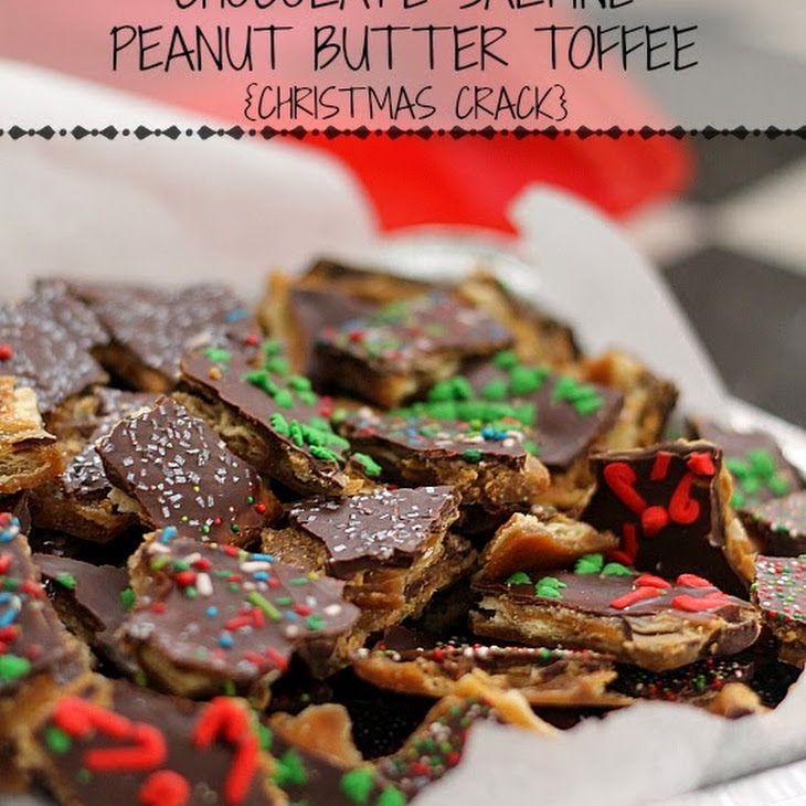 Chocolate Saltine Peanut Butter Toffee {Christmas Crack} Recipe