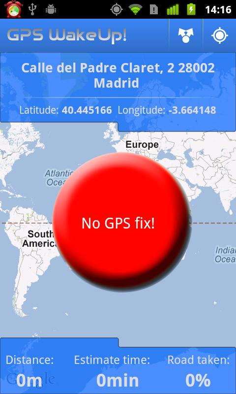GPS WakeUp! - screenshot