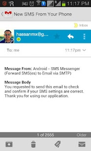 Forward SMS to Email via SMTP - screenshot thumbnail