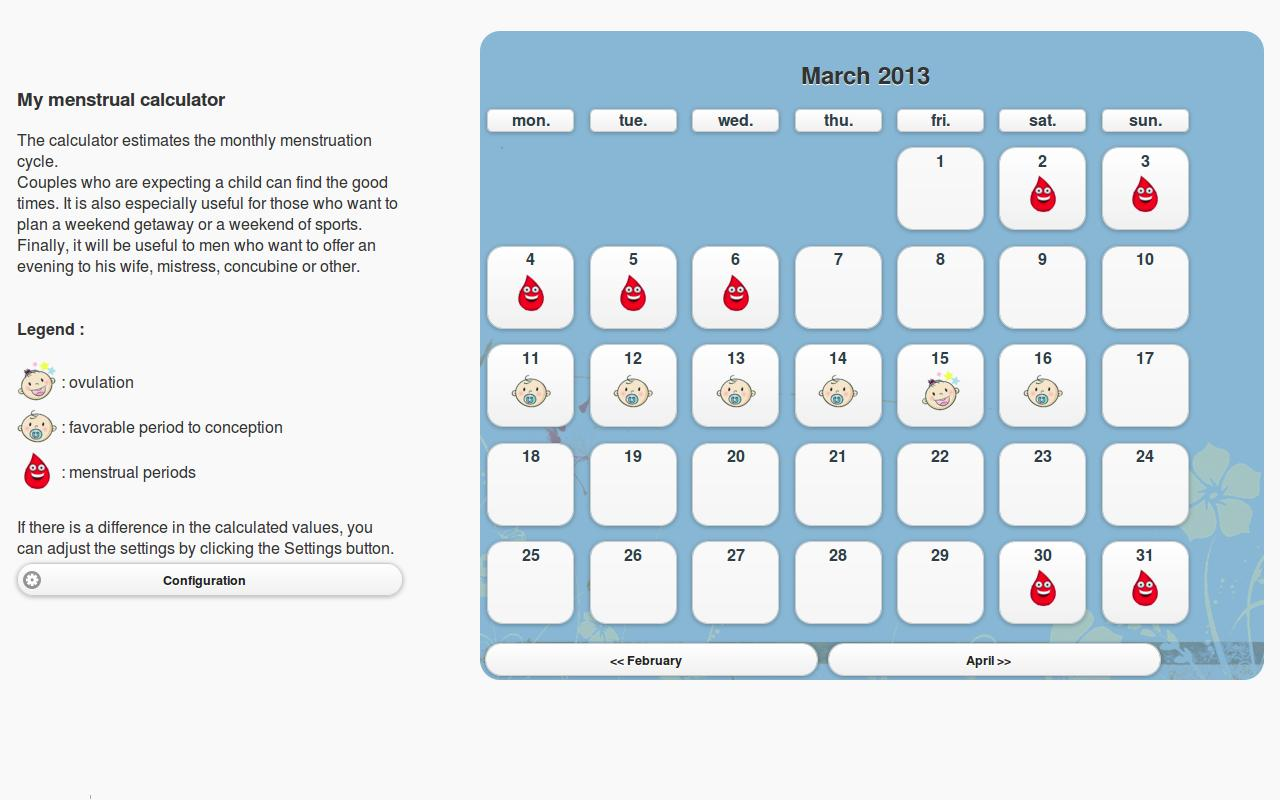 My menstrual calculator - Android Apps on Google Play