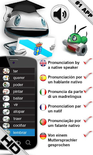 Galician Verbs HD LearnBots