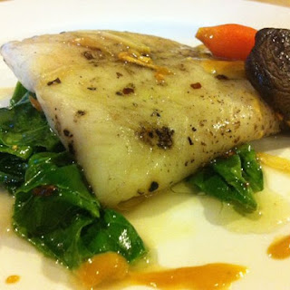 Poached Sole with Ponzu Cream
