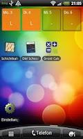 Screenshot of shift calendar