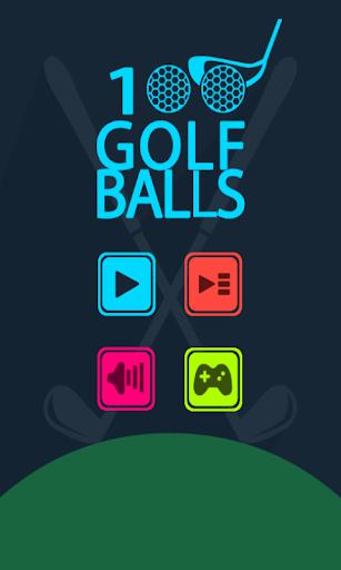 100個高爾夫球